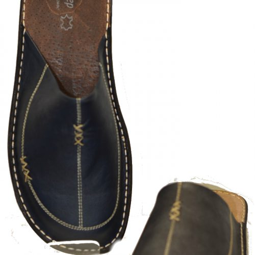 Men Leather Slippers-1771