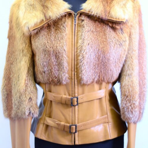 Women Furs With Leather-269