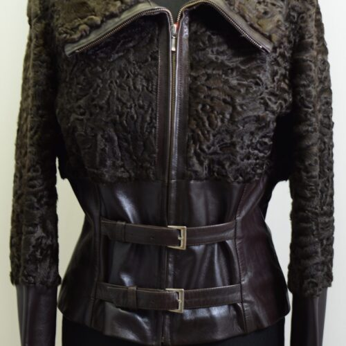 Women Furs With Leather-272