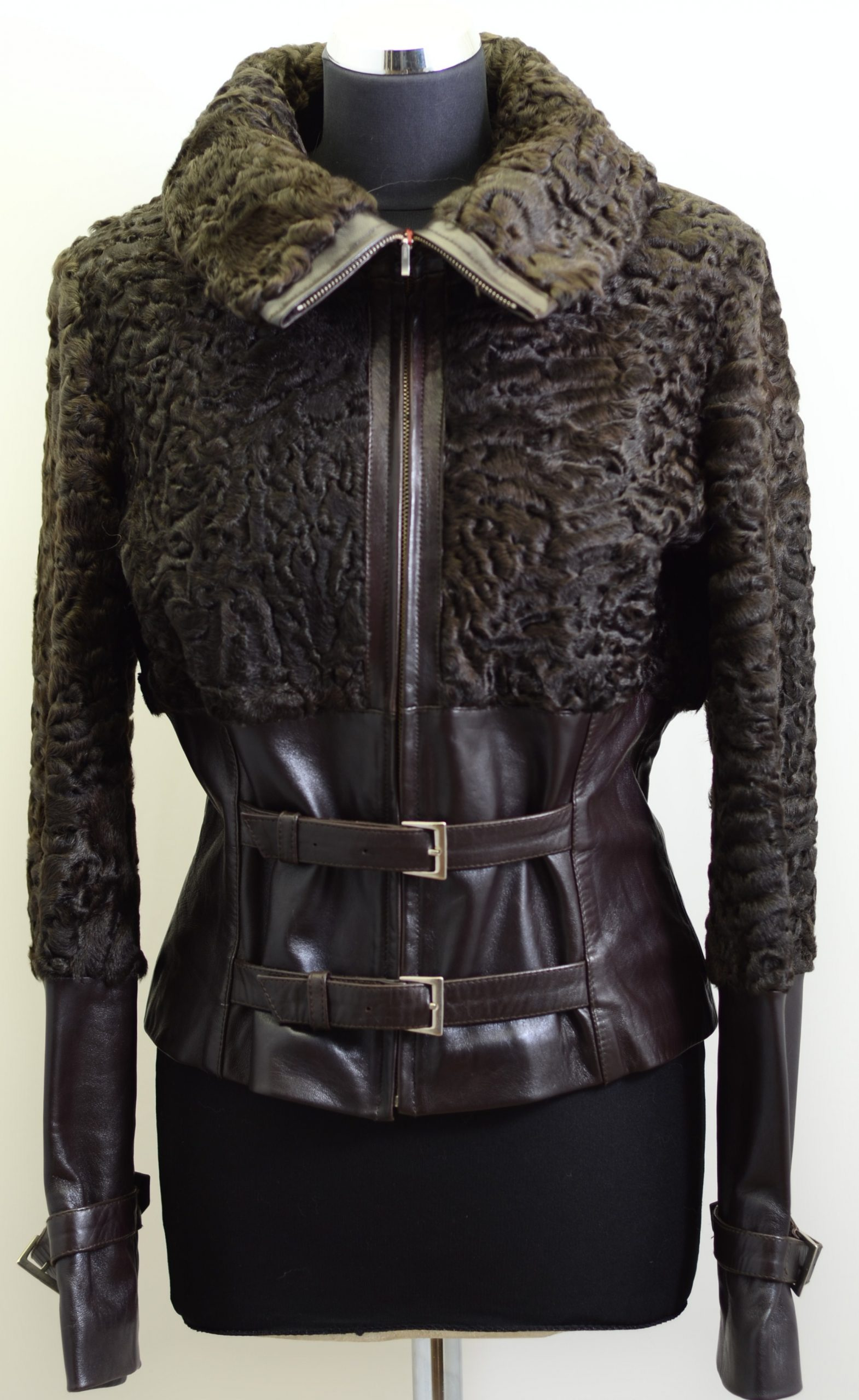 Women Furs With Leather-271