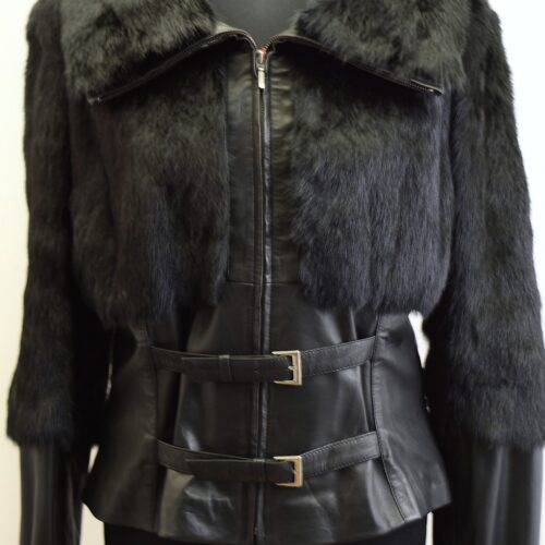 Women Furs With Leather-274