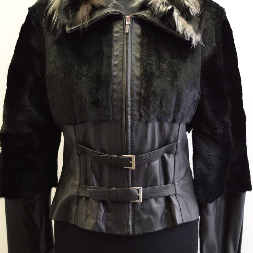 Women Furs With Leather-279