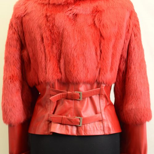 Women Furs With Leather-0