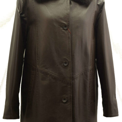 Women Leather Coat-367