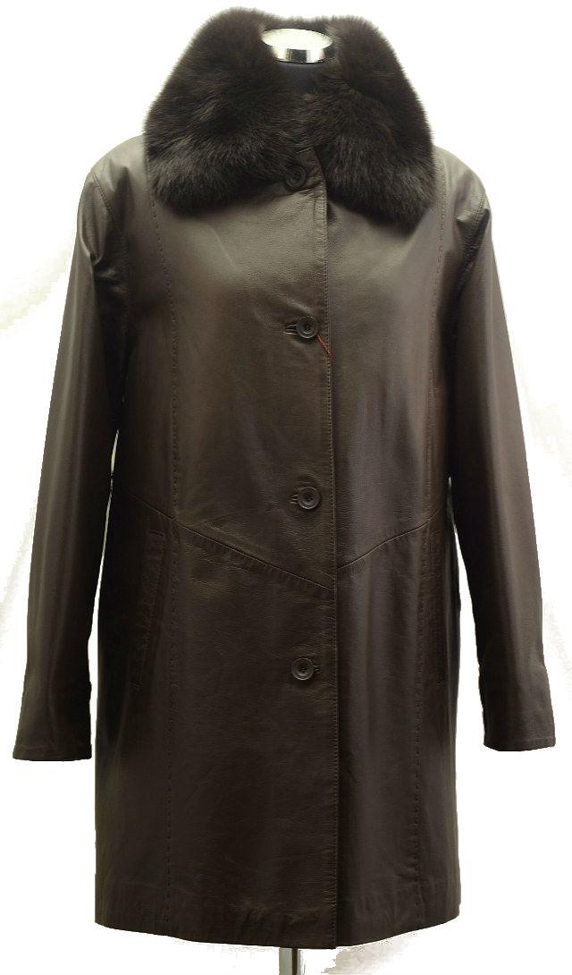Women Leather Coat-367