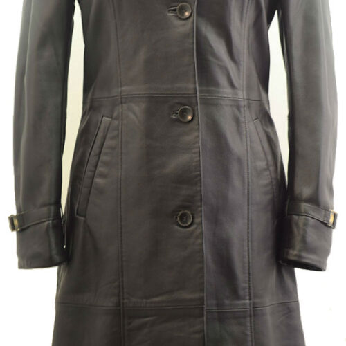 Women Leather Coat-368