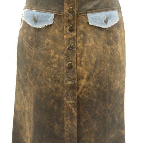 Women Leather Skirts-597