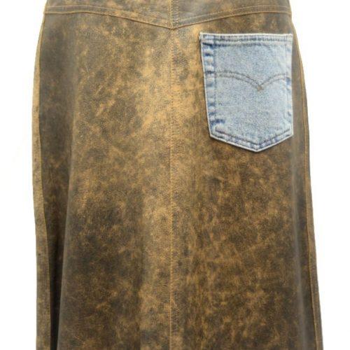 Women Leather Skirts-0