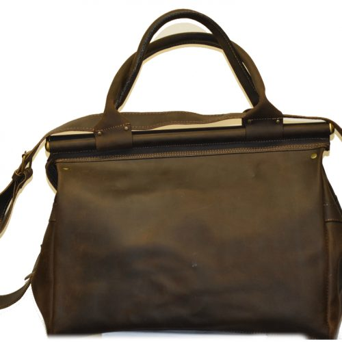 Leather Travel Suitcase-0