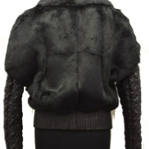 Women Leather Jacket With Furs-0