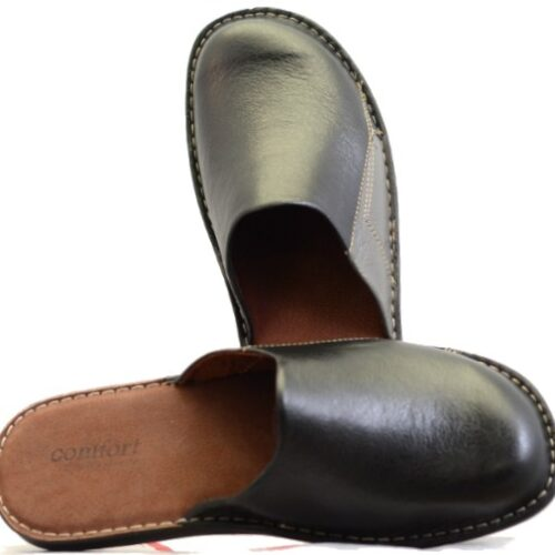 Men Leather Slippers-0