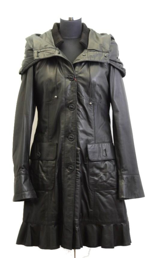 Women Leather Coat-812