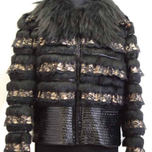 Women Furs Rabbit Jacket-835